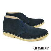 【CR CERINI】都會風格麂皮短靴-星空藍(208-NA)