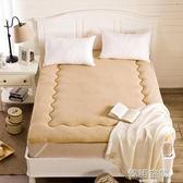 羊羔絨地鋪睡墊 榻榻米床墊床褥學生宿舍單人可折疊1.5米墊被褥韓語空間 igo