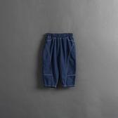 Queen Shop【04011474】童裝 親子系列 車線剪裁繭型牛仔褲 S/M/L*現+預*