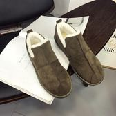 雪靴 韓國學生休閑面包鞋冬季一腳蹬棉鞋