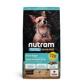 寵物家族-[輸入NT99享9折][效期20210812]紐頓Nutram-T28無穀迷你犬鮭魚1.13KG
