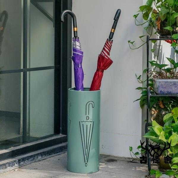 雨傘架防水雨傘收納架北歐金屬家用創意簡約雨傘桶【古怪舍】