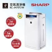 【下單送國際吹風機 EH-NE57】SHARP 夏普 日本原裝水活力空氣清淨機 KC-JH70T-W 璀璨金