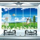 防油壁貼 原野浦公英 磁磚貼 45*75cm廚房壁貼 想購了超級小物