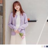 《FA2252-》多色.電繡小花編織麻花排釦針織衫/外套 OB嚴選