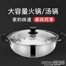 不鏽鋼加厚湯鍋具火鍋盆家用雙耳煮鍋燃氣商用CY『新佰數位屋』