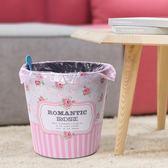 雙12盛宴 歐美式家用創意客廳臥室垃圾桶ins小清新可愛個性無蓋復古大紙簍