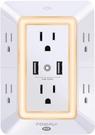 [2美國直購] USB Wall Charger,充電器 Surge Protector, POWRUI 6-Outlet Extender with 2 USB Charging Ports