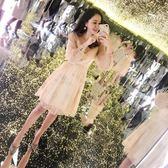 婚禮洋裝正式場合洋裝超仙端莊大氣晚宴會高貴網紗年會禮服裙女wy【雙十一狂歡】