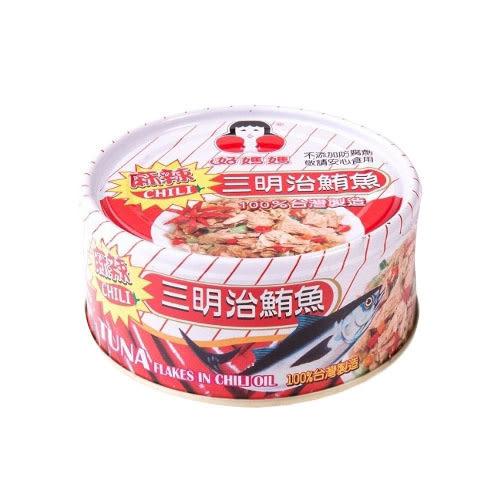 東和好媽媽-麻辣三明治鮪魚片3入【愛買】
