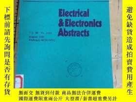 二手書博民逛書店Electrical&Electronlcs罕見Abstract