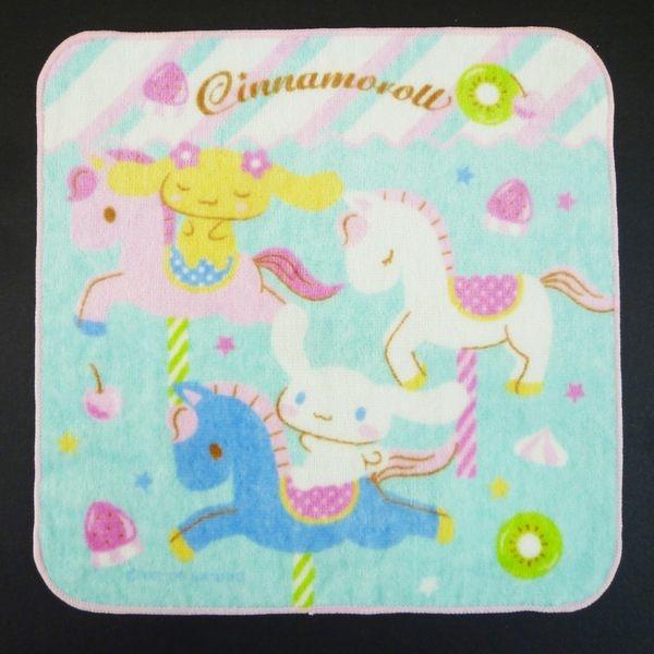 【震撼精品百貨】大耳狗_Cinnamoroll~Sanrio 大耳狗小方巾/手帕-旋轉木馬#68581