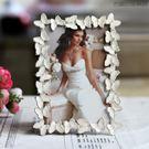雙十二狂歡6寸金屬相框邊框蝴蝶婚紗照相架【洛麗的雜貨鋪】