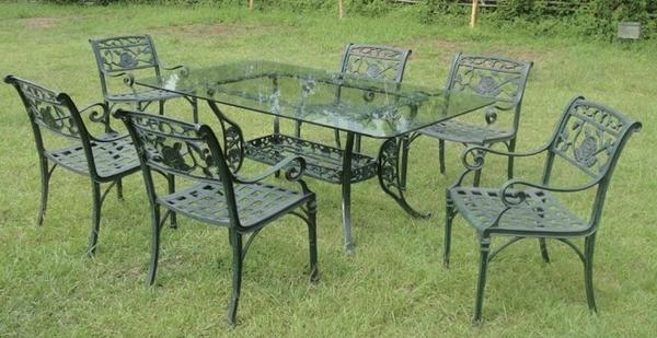 【南洋風休閒傢俱】戶外休閒桌椅系列-玫瑰扶手桌椅組  戶外休閒餐桌椅組  (#274 #20301)