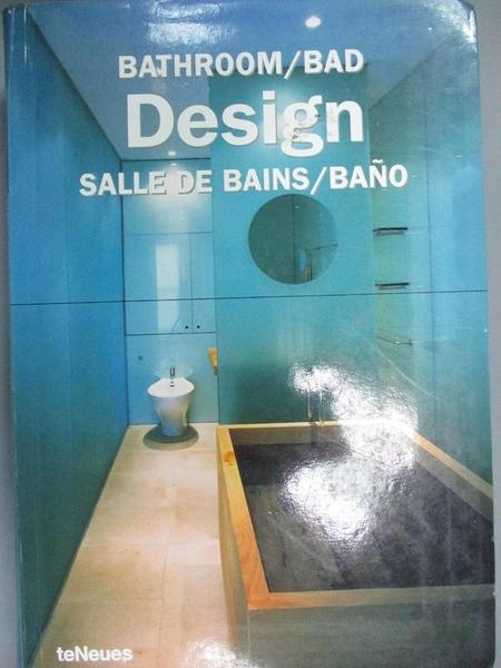 【書寶二手書T1/建築_NIY】Bathroom Design/Bedezimmer Design/Design De Salle...