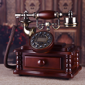 高檔實木電話仿古電話機復古歐式電話機時尚創意古董家用辦公座機 陽光好物