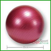 防爆瑜珈球55cm(55公分韻律球/抗力球/充氣球/體操球/彈力球/感覺統合球)