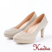 ★2018春夏新品★kadia.後跟造型金屬飾釦高跟鞋(8204-25金)