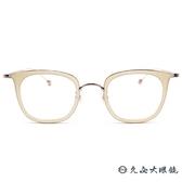 Kaffeine 咖啡因 Esmeraida 1 C5 (珠光白-玫瑰金) 韓國設計 方框 近視眼鏡 久必大眼鏡