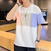 短袖t恤男新款夏季韓版潮流寬鬆純棉衣服港風ins半袖體恤 電購3C