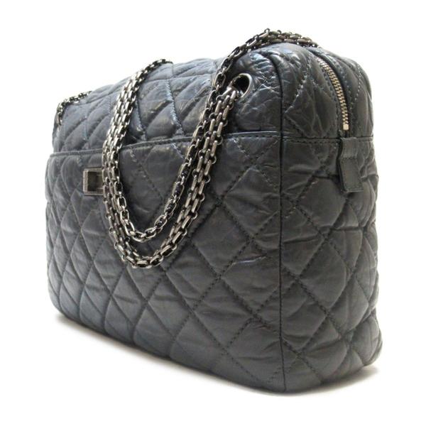 CHANEL 香奈兒 灰色羊皮肩背包 Large Reissue Camera Case Bag【二手名牌 BRAND OFF】