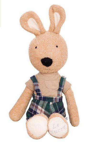 娃娃屋樂園~Le Sucre法國兔砂糖兔(蘇格蘭格子褲款)45cm450元另有30cm60cm90cm