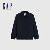 Gap男裝 工裝風時尚翻領外套 673680-海軍藍