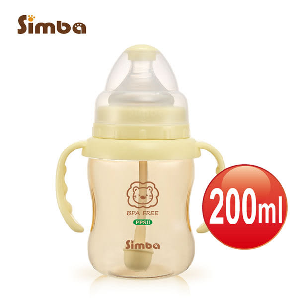 Simba小獅王辛巴 - PPSU自動把手寬口葫蘆小奶瓶 200ml