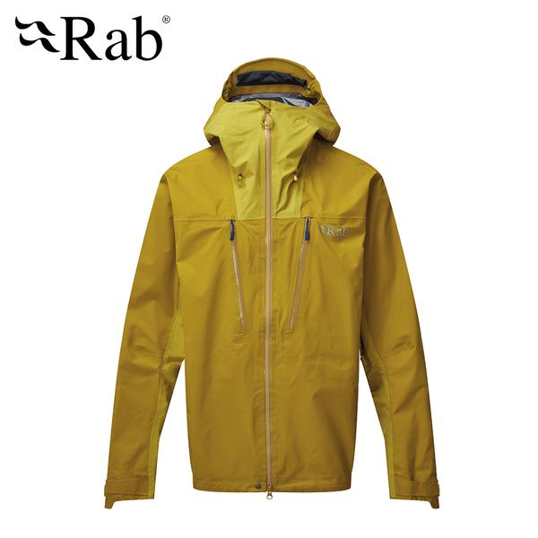 【英國 RAB】 Muztag GTX Jacket 防水透氣連帽外套 男款 深硫磺 #QWQ38