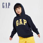 Gap男童 Logo棉質縮口連帽上衣 567725-藏青色
