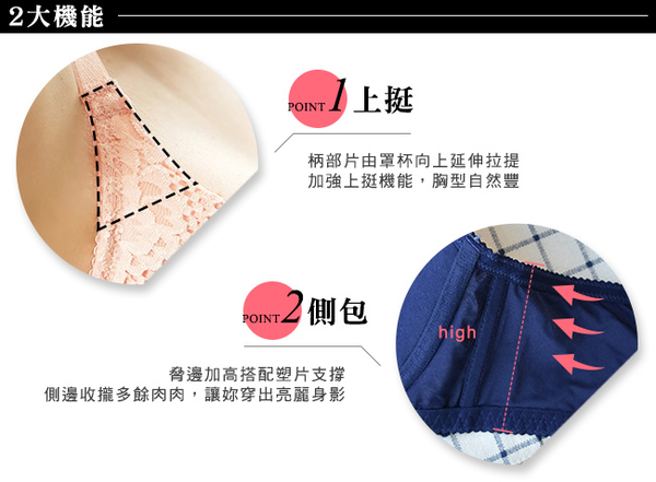 EASY SHOP-夢境漫遊 大罩杯B-F罩內衣(藏青藍)