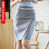 大碼短裙 夏季包臀半身裙2018新款工作裙子女西裙裹裙職業風OL女裝 AW2690【棉花糖伊人】