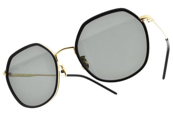 NINE ACCORD 偏光太陽眼鏡 KISSING-MEI JIN C1 (黑金-綠) 潮流多邊設計款 墨鏡 # 金橘眼鏡