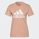 Adidas ESSENTIALS 女裝 短袖 T恤 LOGO 重磅 純棉 粉【運動世界】H07810