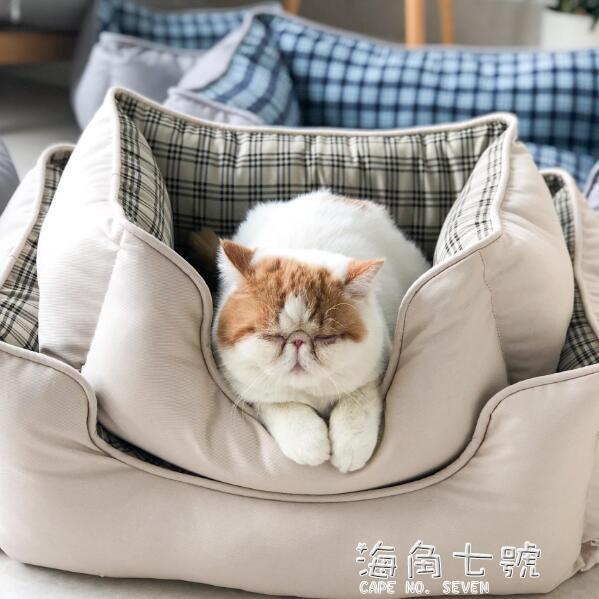 寵物狗窩貓窩方形窩寵物墊子四季通用泰迪狗床窩墊保暖軟窩柯基窩海角七號