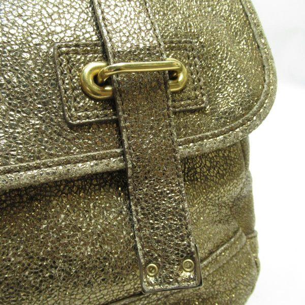 YVES SAINT LAURENT YSL 聖羅蘭 金色牛皮斜背包Shoulderbag 【二手名牌BRAND OFF】