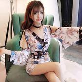 日系改良和服包臀連身裙女性感高腰顯瘦【步行者戶外生活館】