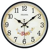 辦公室田園簡易圓形復古掛鐘現代清新中國風家用歐式創意鐘錶時鐘  全館免運
