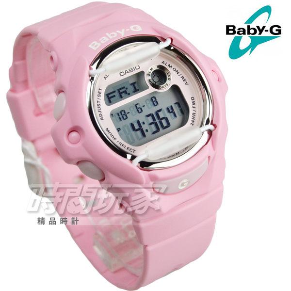 Baby-G BG-169R-4C 清新甜美氣質女孩休閒電子錶款 白色金屬防撞器設計 粉紅 防水 BG-169R-4CDR CASIO卡西歐