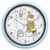 小禮堂 角落生物 圓形壁掛鐘 壁鐘 時鐘 (藍 夾娃娃) 4589677-88789