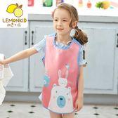防水罩衣 寶寶圍裙無袖防水背心式兒童罩衣男童吃飯衣女孩畫畫衣小孩反穿衣【小天使】