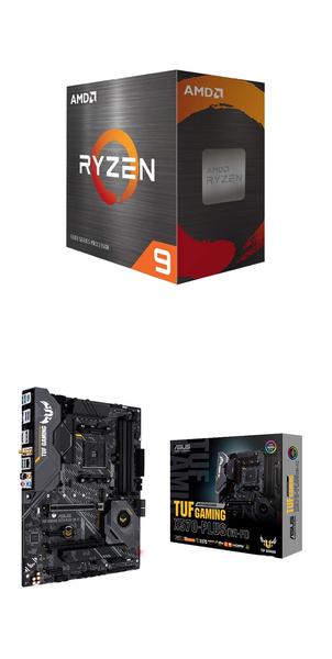 【自組DIY兩件組R59】AMD R9 5900X+華碩 TUF GAMING X570-PLUS WI-FI
