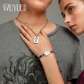 同心鎖情侶手鍊一對可刻字飾品創意男女鑰匙項鍊鎖手環情人節禮物     韓小姐の衣櫥