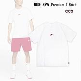 Nike 短袖T恤 NSW Tee 白 紅 男款 短T 圓領 刺繡小LOGO 專業 運動休閒 【ACS】 DB3194-101