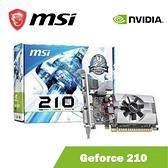 MSI 微星 NVIDIA Geforce 210 1GB DDR3 PCI-E 2.0 DirectX10 顯示卡