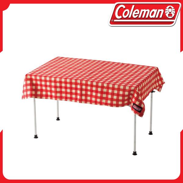 【Coleman 紅格紋桌布】26878/露營桌/野餐桌/桌巾/復古風/防潑水