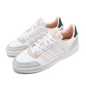 adidas 休閒鞋 Courtmaster 白 粉紅 男鞋 基本款 麂皮 運動鞋 【ACS】 FW9360