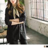 《AB5028-》素色雙口袋混色寬鬆上衣 OB嚴選