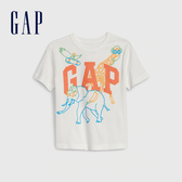 Gap男幼棉質舒適圓領套頭T恤545142-光感亮白
