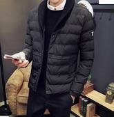 《澤米》針織西裝領單排扣鋪棉保暖外套 秋冬韓版男士外套 日系潮流時尚毛線領 加厚修身刷棉